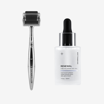 Skinroller + Hyaluronic Acid Serum + Vitamin E & C
