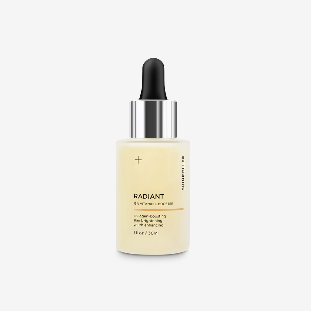 Radiant serum + mask + roller