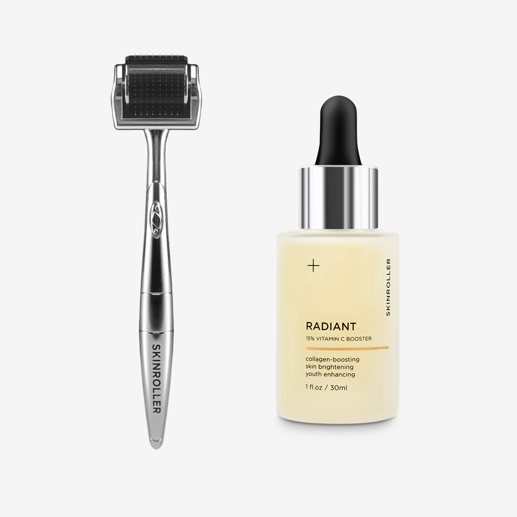 Skinroller + Radiant Vitamin C-serum 30ml
